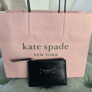 NWT Kate Spade Credit Card Wallet- Black
